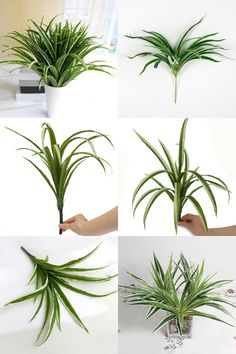 [Visit To Buy] Artificial Fake Plastic Green Grass Plant Simulation Grass  With 30 Pcs Leaves Aquarium Ornaments Home Garden Office Decor
