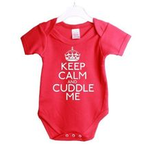 Keep Calm And Cuddle Me Funny Babygrow Baby Shower Gift Suit 0/3 Months Red Vest White Print-0/3 Months Red-White Print by Jonny Cotton, http://www.amazon.com/dp/B0073QKWU2/ref=cm_sw_r_pi_dp_oCYJrb0Z5TAB7