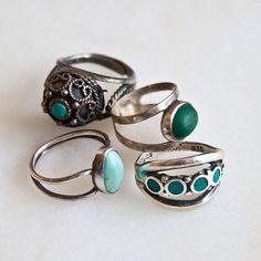 Chunky turquoise ringin