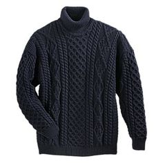 This looks like the perfect Aran sweater to me. I'd wear the heck out of it!