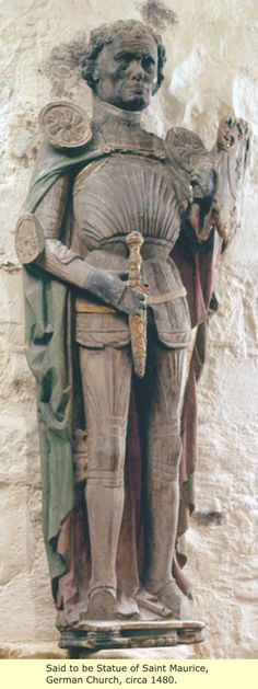 Saint Maurice Of Germany - Saint Maurice was the leader of the legendary Roman… European History, World History, Art History, Halle, Vikings, Medieval, Black History Facts, African Diaspora, Dark Ages