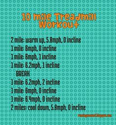 10 mile treadmill workout. ..woof
