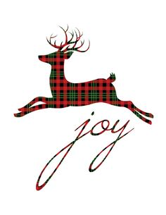 red-plaid-reindeer-joy-christmas-printable