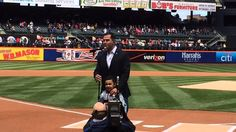 In support of Autism Awareness Day and the NY Mets, and joined by his son Jonah at CitiField - actor/singerJW Cortes from NBC's Stars Earn Stripes, Iraq War veteran and Brooklyn native lent his voice to the opening Mets game ceremony with a stirring rendition of the national anthem.