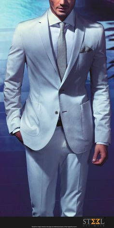 Make this light blue coloured suit your Summer shield & go cool this season…