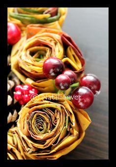 Leaf flower wreath
