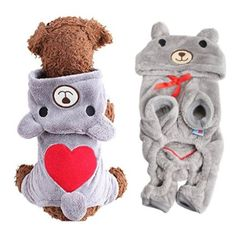 FitPetX Dog Sweater Clothes Dog Outfits Fashion Pet Costume Cute Dog Hoodie Clothes for Small Dogs (XS, Grey) * Visit the image link more details. (This is an affiliate link) Pet Dogs, Dogs And Puppies, Doggies, Dog Hoodie, Fleece Hoodie, Sweatshirt, Cute Dog Clothes, Pet Costumes, Bear Costume
