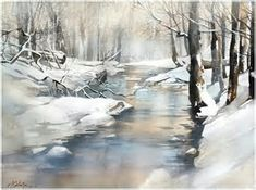 Image result for Pinterest Painting Watercolor Winter
