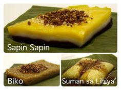 Sapin Sapin, Biko At Suman Sa Lihiya