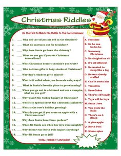 Day Projects We Had the Kids Collect 100 Things at Christmas Riddles, Printable Christmas Games, Christmas Activities, Christmas Themes, Christmas Diy, Christmas Trivia, Christmas Countdown, Office Christmas, Family Christmas