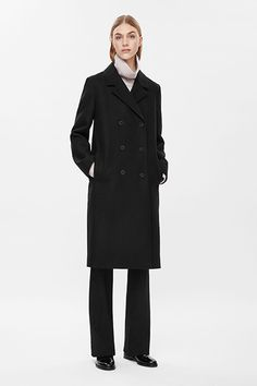 Double Breasted wool coat. Minimalist in design for fall/winter 2015-16 available in the UK Androgynous Cool at Cos | sheerluxe.com