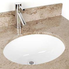 Du0027Vontz Small China Oval Undermount Sink Bathroom Sink Color: