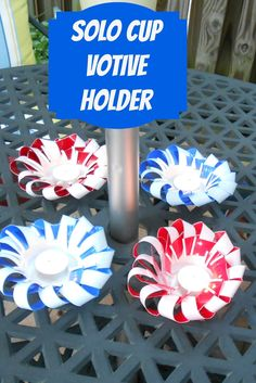 Solo Cup; Votive Holder; candle holder; entertaining; outdoors; tea light