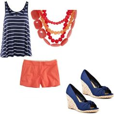 Navy and coral!  Thanks Nagwa!