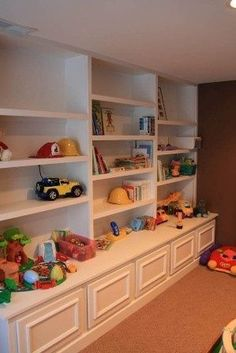 Along one left wall of play room