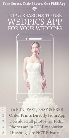 Getting Married or know someone who is?  Your Wedding Guests. Their Photos. One FREE App! It's THAT simple!