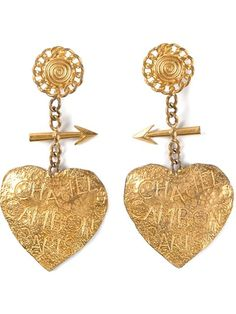 Shop Chanel Vintage heart earrings in Rianna in Berlin from the world's best independent boutiques at farfetch.com. Over 1000 designers from 300 boutiques in one website.