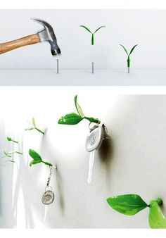 simple hangers solution... to make your walls come alive :)