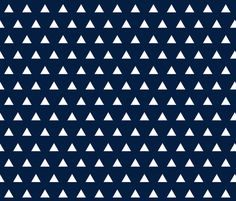 navy triangles fabric by ivieclothco on Spoonflower - custom fabric