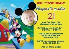 cool mickey mouse photo birthday invitations  birthday invitation, invitation samples