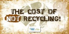 The Cost of NOT Recycling! 'Reduce, Reuse, Recycle' is an adage that we've heard a million times, only to realize that we seldom follow it. While promoters of green living and environmentalists swear by the benefits of recycling unwanted stuff, be it paper or electronic waste, it has been observed that most people do not know of the means and measures to recycle their waste. Read more