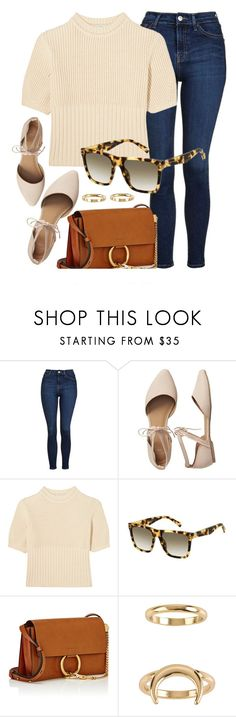 """Everyday Look"" by smartbuyglasses-uk ❤ liked on Polyvore featuring Topshop, Gap, Totême, Chloé, Billabong and marcjacobs"