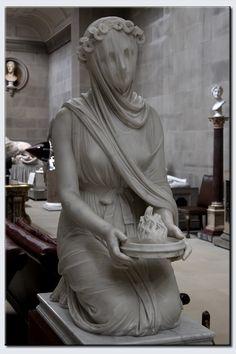 The Veiled Vestal Virgin Raffaele Monti 1847