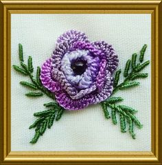 Brazilian dimensional embroidery - so elegant and so beautiful, and SO creative to stitch! Here are the remaining flowers from The Olden Da...