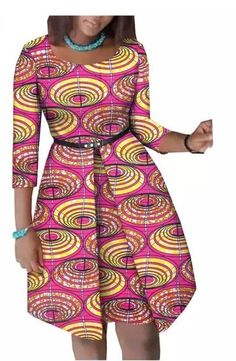 Summer African dress for women - Fashion Moda 2019 Short African Dresses, African Blouses, African Fashion Designers, Latest African Fashion Dresses, Moda Afro, Ankara Dress Styles, African Traditional Dresses, Africa Fashion, African Attire