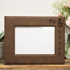Make your picture perfect by encasing it in this engraved easel-back frame—a gift that will be appreciated, or a keepsake just for you.