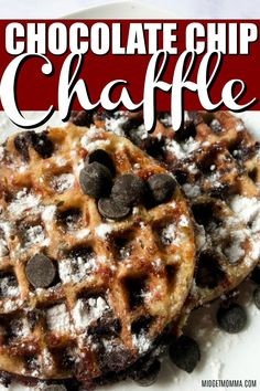 Looking for one of the best ever keto chaffles recipe? Then you are going to LOVE this Chocolate Chip Chaffles Recipe! This Chocolate Chip Keto waffles recipe is A sweet chaffle recipe that is loaded with tasty low carb chocolate chips! Keto Cupcakes, Keto Waffle, Waffle Recipes, Pudding Recipes, Casserole Recipes, Keto Friendly Desserts, Low Carb Desserts, Easy Low Carb Dessert, Low Carb Breakfast Easy