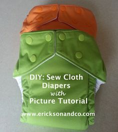 {Tutorial} Pocket Cloth Diaper with Hidden Adjsutable Elastic - Picture tutorial with free Pattern - www.ericksonandco.com