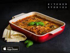 Ich koche gerade Parmigiana di melanzane mit @1KitchenStories - Lade dir die App über http://getkitchenstories.com herunter
