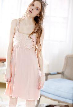 7cbf7ad8a1bba Pink   White Camisole Night Dress Sleepwear