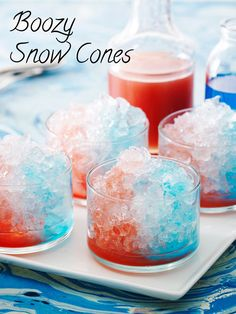 Serving these boozy snow cones will make you nostalgic for summers spent at the state fair.