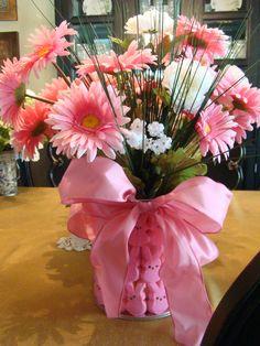 pink easter floral arrangement