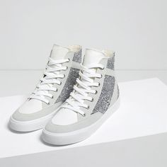 Image 4 of SHINY HIGH-TOP SNEAKERS from Zara