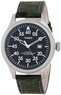 fd38426587e5 Timex Unisex T2N9979J Casual Black Distressed Leather Strap Watch. Timex  WatchesDistressed LeatherStainless Steel CaseWatches ...