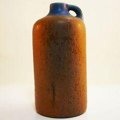 West German Pottery Vase by Otto Keramik  -with amazing blue orange glaze