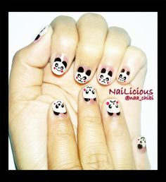 Cute Panda - Nail Art Gallery