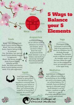 5 Ways to Balance the 5 Elements: TCM Traditional Chinese Medicine includes Yoga, Meditation, Foods, Acupuncture, Hands. Qigong, Ayurveda, Alternative Health, Alternative Medicine, Holistic Healing, Natural Healing, Holistic Medicine, Yoga Meditation, Wellness Massage