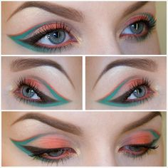 .@Sandra Pendle holmbom | Green and orange. Products list →Rodeo.net/sandraholmbom #makeup #mofd #makeu... | Webstagram
