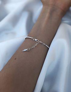 Silver Beaded Bracelet • Bead Bracelet • Stacking Bracelet • Diamond Cut Beads Bracelet • Handmade Bracelet • Silver Ball Bracelet • Amber's Diamond Bracelets, Beaded Bracelets, Luxury Jewelry, Unique Jewelry, Sterling Silver Bead Bracelet, Silver Bracelets For Women, Handmade Bracelets, Silver Beads, Diamond Cuts