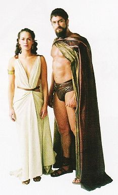 Gerard Butler As Leonidas And Lena Headey As Queen Gorgo In 300 (2006)