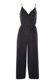 Topshop Strappy Wrap Jumpsuit Found on my new favorite app Dote Shopping Silk Jumpsuit, Wrap Jumpsuit, Billboard Women In Music, Cropped Wide Leg Trousers, Weekend Wear, New Wardrobe, Playsuits, Casual Wear, Going Out