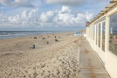 Am Strand von Texel: Ausblick von der Strandbar am Paal 20