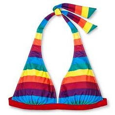 Pride Women's Rainbow Swim Top : Target