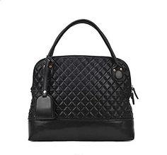 Free2mys Women's Vintage Geometry Diamond Stand Handbag (Black)