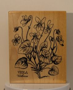 PSX BOTANICAL Viola Violaceae  Flower Rubber Stamp by PollysPlace, $19.99