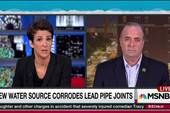 Flint community scrambles for water options - THE RACHEL MADDOW SHOW 12/23/15 Flint community scrambles to cope with state's water error Congressman Dan Kildee, who represents Flint in Congress, talks with Rachel Maddow about his drive for a water crisis health fund to offset some of the damage done to the children of Flint by lead exposure in the water, a consequence of the state's horrible mistake.